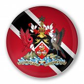 Badge With Flag Of Trinidad And Tobago
