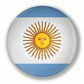 Badge With Flag Of Argentina