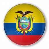 Badge With Flag Of Ecuador
