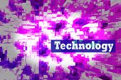 Techno Abstract Background, Pink And Blue Screen. Transparent Rectangles. Abstract Techno Lines Back poster