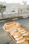 Bageleh Bread Jerusalem Street Market View Of Damascus Gate Israel