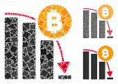 Bitcoin Panic Fall Chart Composition Of Tuberous Pieces In Variable Sizes And Color Tinges, Based On poster
