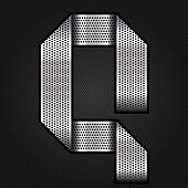 Letter metal chrome ribbon - Q