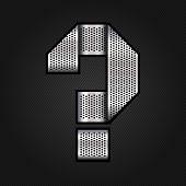 Letter metal chrome ribbon - Question mark