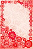 Background With Flowers And Hearts