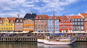 Colorful Buildings Of Nyhavn In Copenhagen, Denmark poster