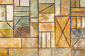 Background. Ornament Background. Geometric Background. Ancient Geometric Wall. Specific Background.  poster