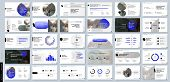 Blue Presentation Templates Elements On A White Background. Vector Infographics. Use In Presentation poster