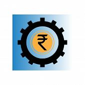 Indian Rupee Icon. Indian Rupee Sign Vector poster