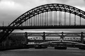 picture of tyne  - Bridges over the river tyne in gateshead newcastle - JPG