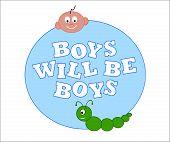Boys Will Be Boys vector illustration