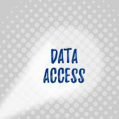 Text Sign Showing Data Access. Conceptual Photo A User S Is Ability To Access Data Stored Within A D poster