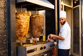 Sidewalk Grill Chicken Lamb Kebab Meat Cook