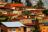 Colorful Hillside Homes
