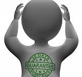 30 Days Money Back Guarantee Stamp On Man