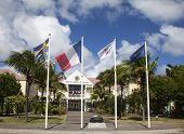 Hotel de la Collective, former Town Hall at St Barths, French West Indies