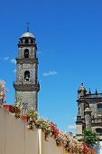 Bell tower and cathedral, Jerez, Spain.