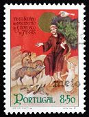 Postage Stamp Portugal 1982 St. Francis Of Assisi With Animals