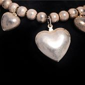 Necklace With A Silver Heart