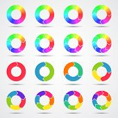 Set of color circle arrows