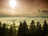 Sun Above Clouds