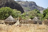 remote village in mountainous region of south sudan