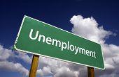 Arbeitslosigkeit Straßenschild