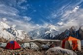 stock photo of karakoram  - Masherbrum  - JPG