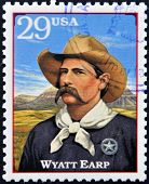Stamp printed in USA shows Wyatt Berry Stapp Earp American Old West