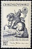 stamp printed in Czechoslovakia shows Don Gonzalo Fernandez de Cordoba The Great Captain
