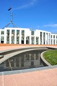 Courtyard Of The Australian Paliament House In Canberra