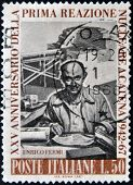 ITALY - CIRCA 1967: A stamp printed in Italy shows Enrico Fermi Italian American physicist