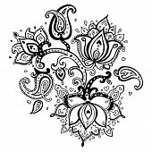stock photo of mehndi  - Paisley ornament - JPG
