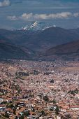 Cusco With Snow Covered Andes