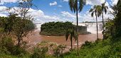 The Iguacu Falls In Argentina Brazil In The Middel Of The Rainforrest