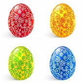 Ornate vector traditional Easter eggs set
