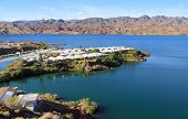 Small neighborhood on the island in lake Havasu