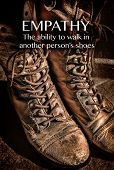 foto of empathy  - A pair of old worn boots - JPG