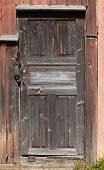 Old Brown Locked Wooden Door Background Texture