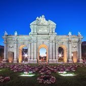 View Of Famous Puerta De Alcala