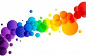 Colorful Bubbles On White Background