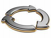 Three Circular Arrows