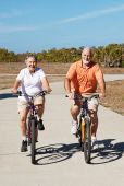Active Retired Seniors On Bikes