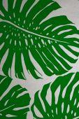 Green Velvet Flowers Background