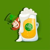 Saint Patrick`s Day Light Beer