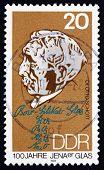 Postage Stamp Gdr 1990 Otto Schott, Chemist And Inventor