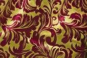 Red and Gold Christmas Background Horizontal