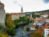 View On Castle In Cesky Krumlov