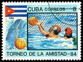 Vintage  Postage Stamp. Water Polo.