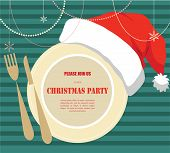 image of christmas dinner  - christmas party invitation - JPG